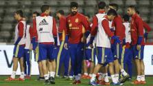 Suspendido el Bélgica-España