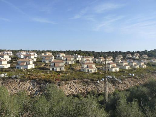 Vista de la urbanización inacabada.