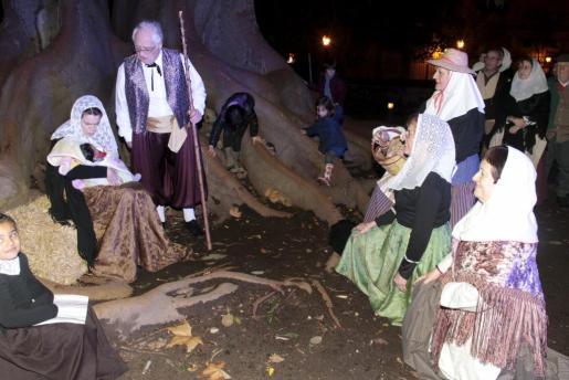 Los Jardines de La Misericòrdia, acogían cada Navidad el tradicional belén viviente del campo mallorquín.