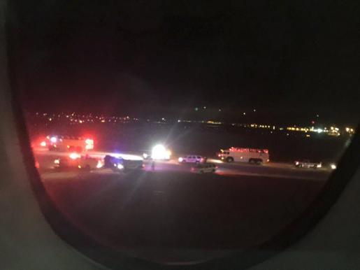 Imagen de uno de los dos vuelos desviados.