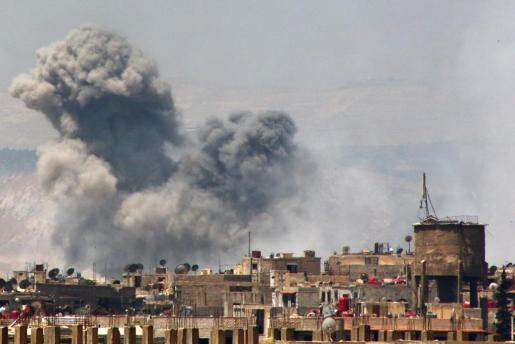 Explosión a las afueras de Damasco, en Siria, uno de los cinco países que en 2014 registraron más atentados.