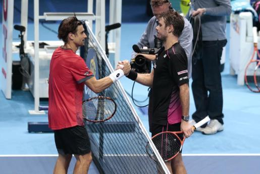 Ferrer y Wawrinka al final del partido.