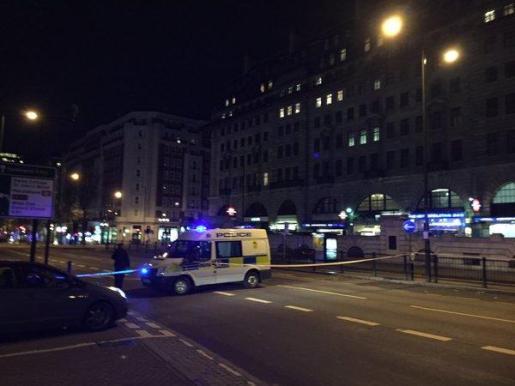 La Policía cerró varias calles para realizar la explosión.