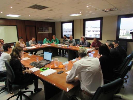 Imagen de la reunión mantenida este viernes por la mesa sectorial de Educación