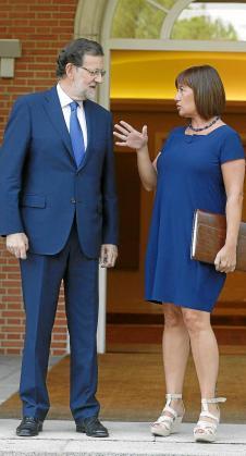 La reunión que mantuvieron en septiembre Mariano Rajoy y Francina Armengol quedó en una foto: no ha habido ni una mejora económica.