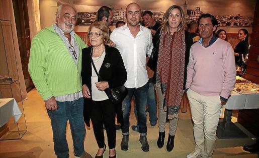 Pep Ferriol «Pavarotti», Francisca Oliver, Tito Ferriol, Maria Francisca Ferriol y Nono.