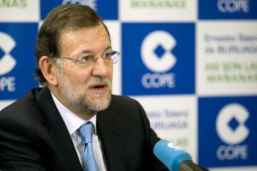Mariano Rajoy, en una de sus visitas a la COPE.