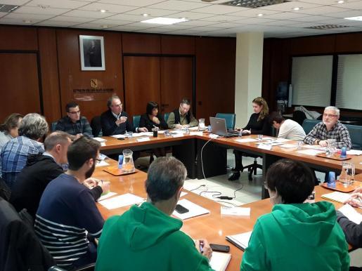 Imagen de un momento de la reunión de la Mesa Sectorial celebrada este jueves.