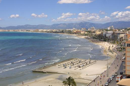 Vista general de la Platja de Palma.
