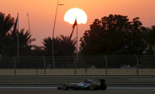 El piloto alemán Nico Rosberg, durante el Gran Premio de Abu Dabi.