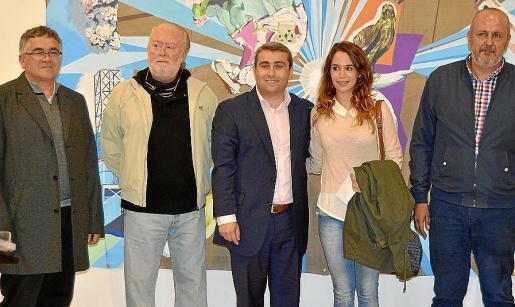 Antoni Rodríguez, Tomàs Pizà, Virgilio Moreno, Elvira Pizà y Miquel Ensenyat.