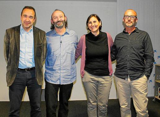 Juanma Gómez, Moncho Ferrer, Isabel Pizá y David Oliver.