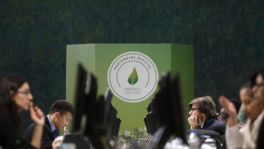 Asisitentes a la conferencia sobre el Cambio Climático de París 2015.