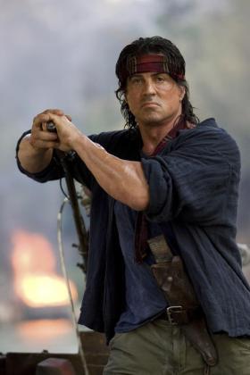Sylvester Stallone durante una escena de 'Rambo IV'.