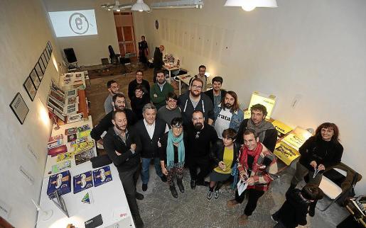 Los editores que han participado en Edicionària, este jueves en Can Danús, sede de la iniciativa.