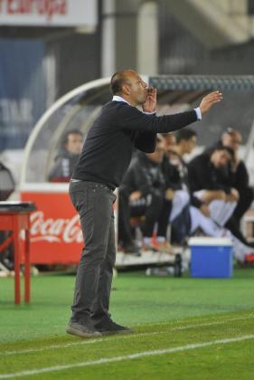 Pepe Gálvez, durante el encuentro contra el Albacete en Son Moix.