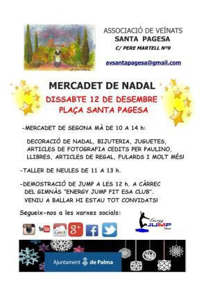 Cartel del mercadillo de Santa Pagesa.
