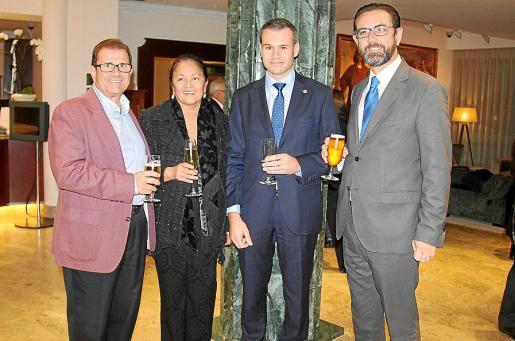 Llorenç Huguet, Gracia García, José Javier Brunet y Alejandro Saenz de San Pedro.