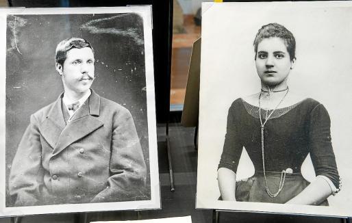 Dos instantáneas: una del Arxiduc Lluís Salvador y otra de su amante mallorquina, Catalina Homar.