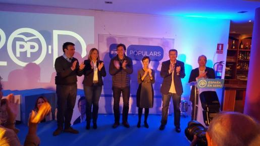 El acto electoral del PP con simpatizantes y afiliados del partido en Maó.