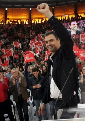 El líder del PSOE, Pedro Sánchez, en Valencia.