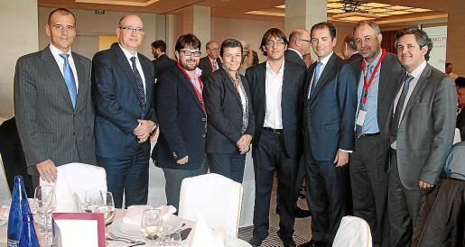Carlos Balado, Alfonso Ruspira, Josep Lluís Pons, Carmen Serra, Iago Negueruela, Francisco Gómez, Luis Nigorra y Pere Rullán.