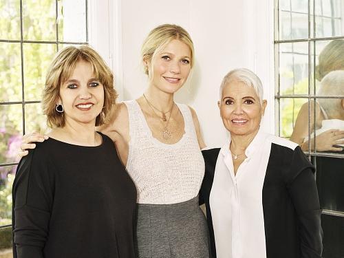 Rosa Tous, Gwyneth Paltrow y Rosa Oriol.