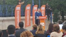 Albert Rivera durante el acto de Ciudadanos en Santander