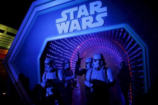 Estreno de 'Star Wars' en la capital francesa.
