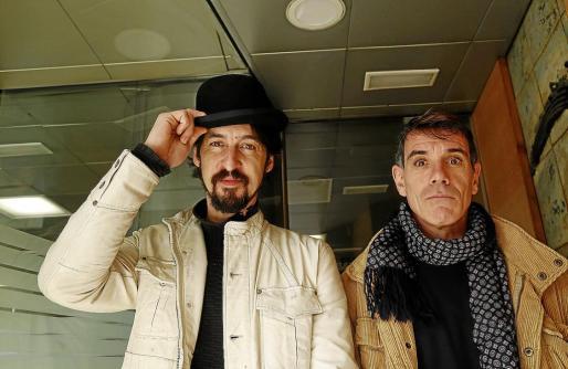 Galuccy Katafalco y Andreu Segura, dos de los integrantes de 'Un Nadal de Pallassos'.