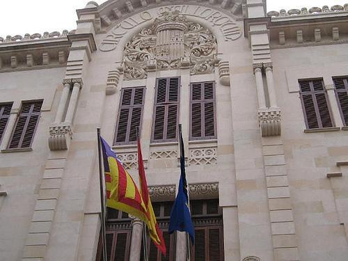 Fachada del Parlament de les Illes Balears, antigua sede del Círculo Mallorquín.
