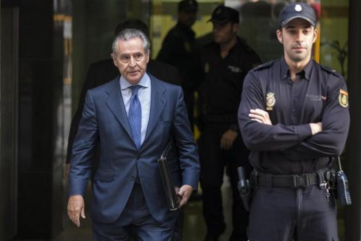 El expresidente de Caja Madrid Miguel Blesa, a su salida de la Audiencia Nacional.