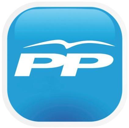 Logotipo del Partido Popular.