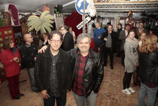 Carles Molinet y Pere Fullana, ayer durante la celebración, en el Teatre del Mar.
