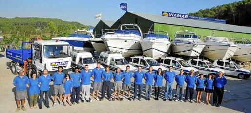 La plantilla de Náutica Viamar, una empresa que apuesta por la formación de sus empleados.