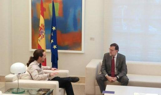 Mariano Rajoy y Pablo Iglesias, este lunes en La Moncloa.