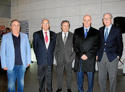 Antoni Mercant, Rafael Soler, Juan Gual de Torrella, Antonio Ortiz y Pedro Comas.