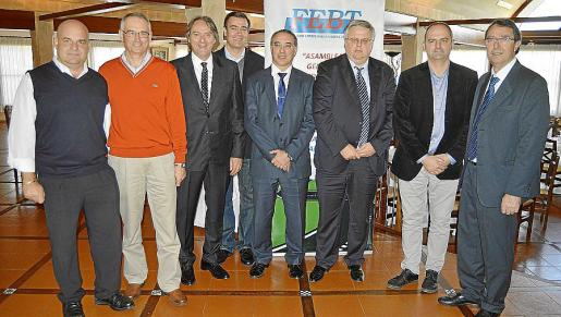 Antonio Marqués, Miquel Ramis, Antoni Rosselló, Miquel Florit, José Antonio Álvarez, Rafael Roig, Jaume Mateu y Salvador Servera.
