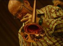 el trombonista norteamericano Geoff Frosell, del Palma Jazz Quartet.