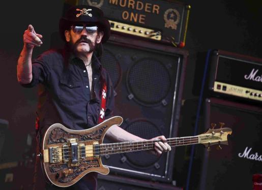 "Ian Fraser ""Lemmy"" Kilmister, en el Glastonbury Festival en Somerset, Inglaterra, el pasado mes de junio."