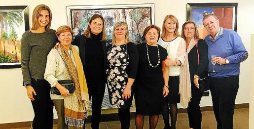 Marta Sánchez, Maria Dolores Muñoz, Silvia Delgado, Cati Gelabert Niell, Catina Gabiño, Antonia Sánchez, Maria Isabel Castell y Jeroni Petro.