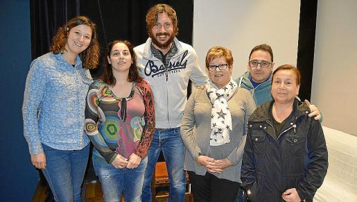 Sio Planas, Joana Maria Mir, Andreu Ramis, Catalina Planas, Pedro Fernández y Maria Prieto.
