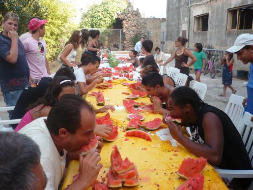 Concurso de comer Sandía.