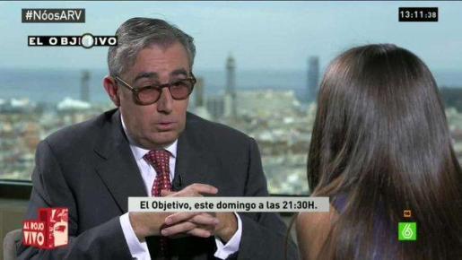 Pantallazo de la entrevista que Ana Pastor ha realizado a Diego Torres.
