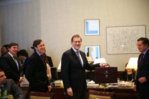 Rajoy ha acudido este viernes al Congreso para acreditarse como diputado.