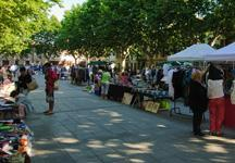 En el mercadillo semanal de Artà se venden frutas y verduras, plantas, flores, ropa y calzado.