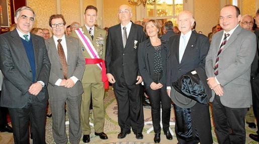 Antonio Planas, Llorenç Huguet, Fernando Aznar, Miguel Deyá, Victoria Ximelis, Alfonso Ballesteros y Pere Grimalt.