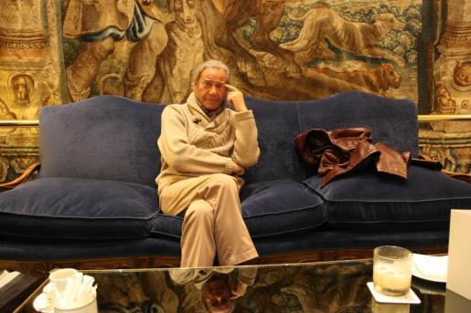 El actor Arturo Fernández en el Hotel Palace de Madrid.