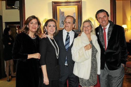 Nanda Dean, Carmen Alemany, Nacho y Lluch Deyá, y Alfonso Bauzá de Mirabó.