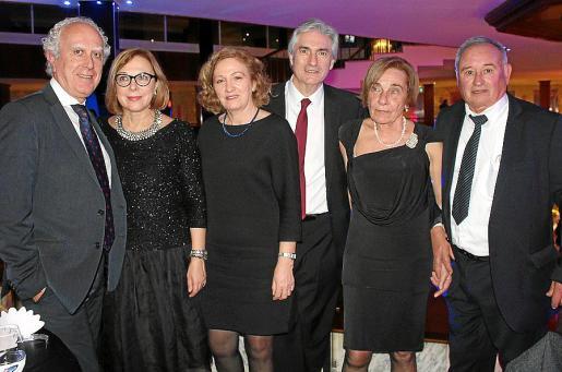 Josep Romagosa, Marisa Jaume, Lina Camps, Martín Adrover, Antonia Puig y Gabriel Mir.